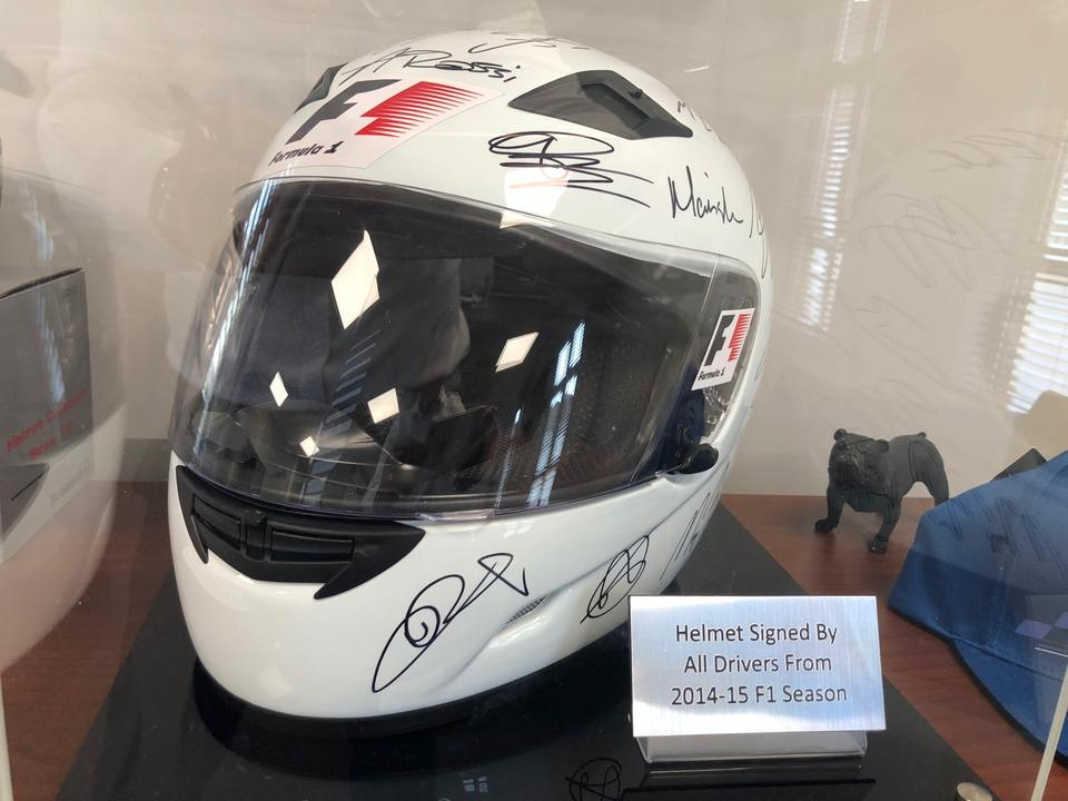 NOW SOLD - F1 Signed Helmet