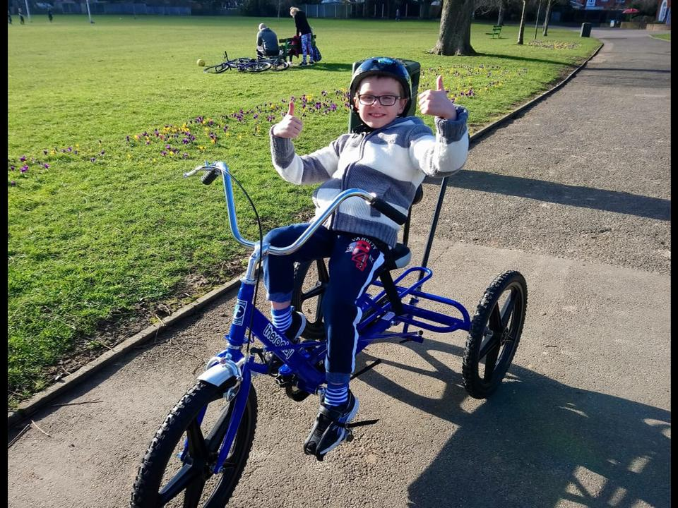 Charlie Becomes More Socially and Physically Active With His New Trike